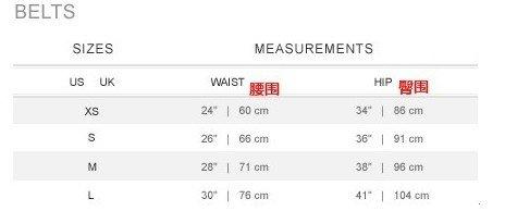 海淘拉夫劳伦Ralph lauren尺码对照表
