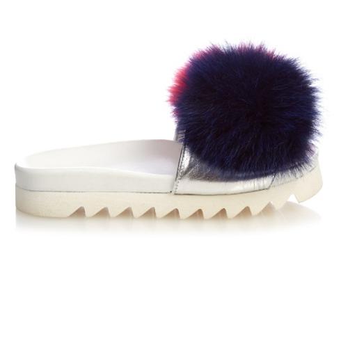 Joshua Sanders 时尚厚底毛拖鞋 $141(约1021元)