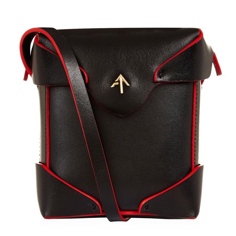 Manu Atelier 箭头包 17春季新款黑红配色 盒子包肩包斜挎包 £280(约2443元)
