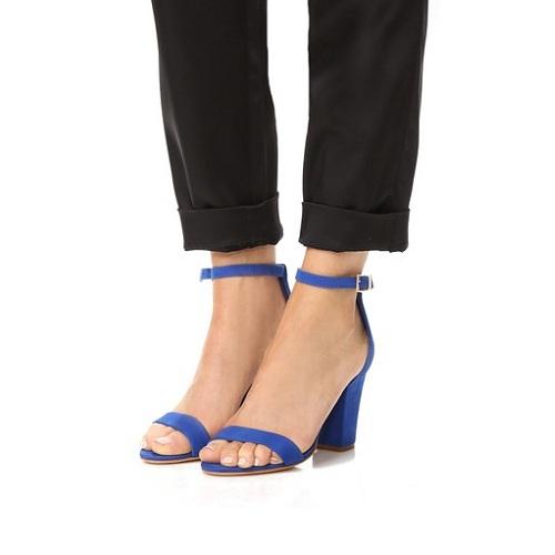 Schutz Jenny Lee 天蓝色一字带凉鞋 $102(约739元)