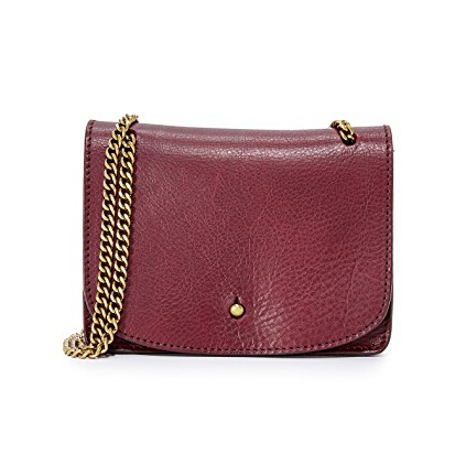 Madewell The Chain Crossbody Bag 酒红色链条斜挎包 $58.8(约403元)