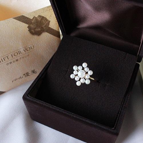 【满额立减3000日元】Akoya 雪花海水珍珠18K金戒指 稀少小海珠 2.5-5.5mm 27240日元(约1656元)