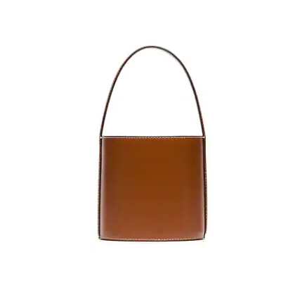 STAUD Bisset 棕色牛皮水桶包 ¥2508.48