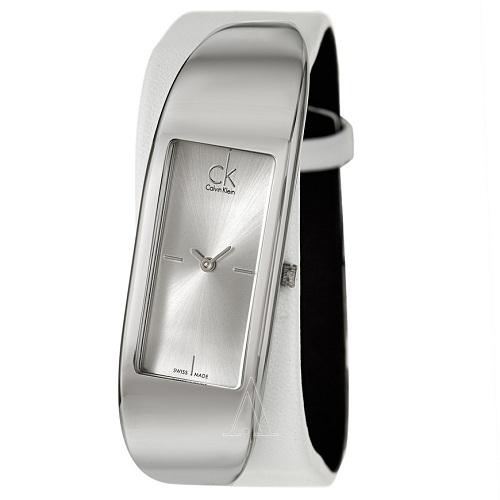 Calvin Klein 卡尔文·克雷恩 Embody 系列 银色造方形表盘女士造型感腕表 K3C231L6 $55(约382元)