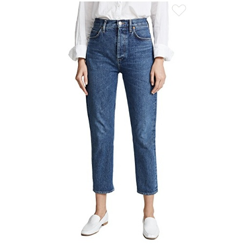 AGOLDE Riley 高腰直脚九分牛仔裤 $168(约1138元)