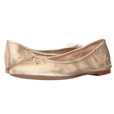 5码最后两双~Sam Edelman Felicia 金色芭蕾舞平底鞋 $45(约309元)