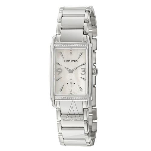 Hamilton 汉密尔顿 Ardmore 系列 珍珠母贝银色女士气质腕表 H11491115 $299.99(约2064元)
