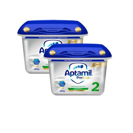 【包邮包税】【2盒装】奥地利版 Aptamil 爱他美白金版婴幼儿奶粉 2段 6月+ 800g*2盒 €55(约421元)