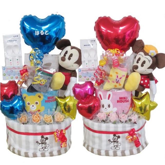 Mikihouse 三木×Disney 迪士尼×Pampers 帮宝适 尿不湿蛋糕 满月礼/诞生贺礼 折后 9600日元(约576元) 9600日元