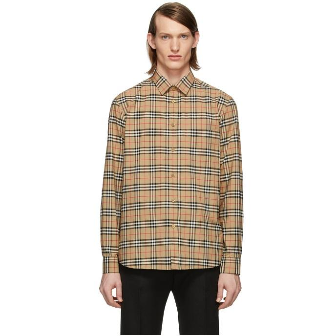 Burberry 经典格纹男士衬衫 $316(约2232元)