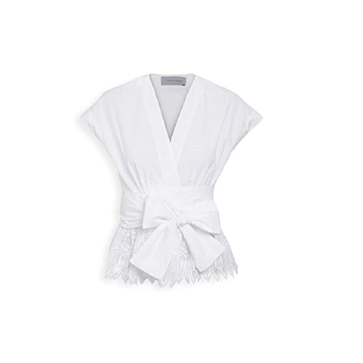 【设计师款】Silvia Tcherassi Cayena 圆孔腰褶上衣 $406(约2868元)