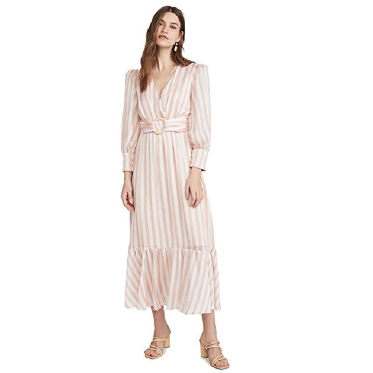 【热卖】PatBO Cabana 条纹系腰带中长连衣裙 $472.5(约3338元)