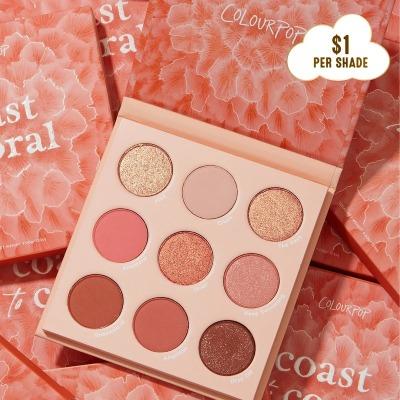 【7折】Colourpop 珊瑚盘 coast to coral $9.8(约64元)