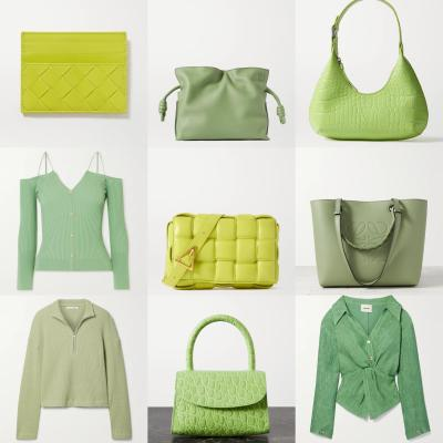 NAP 英站:初春绿色系 大牌服饰鞋包合集<br />新增奶油绿BV贝壳包