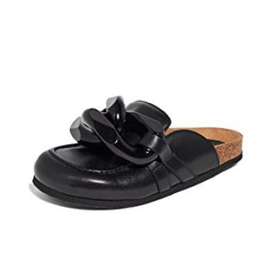 【8折+高返14.4%】JW Anderson 链条穆勒鞋 黄金码全<br />$512(约3320元)