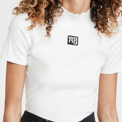 【8.5折+高返14.4%】Alexander Wang 经典logo半高领T恤<br />$212.5(约1374元)