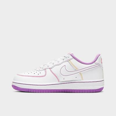 NIKE AIR FORCE 1 童鞋 白紫 缝线 少量现货<br />$62(约400元)