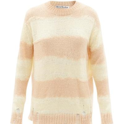 降价!【变相4.5折】Acne Studios 经典做旧拼色毛衣<br />€121.5(约935元)