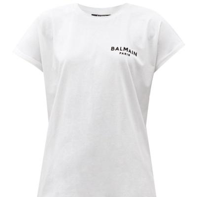 降价!【7折+定价优势】Balmain 经典字母logo白T<br />€101(约772元)