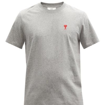 补货!【寄澳门定价优势】Ami Paris 经典灰色红心T恤<br />€60(约460元)