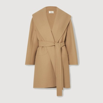 THE ROW Maddy 配腰带羊毛混纺外套 3折<br />£906.67(约8124元)